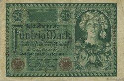 50 Mark ALLEMAGNE  1920 P.068 TTB