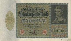 10000 Mark ALLEMAGNE  1922 P.070 pr.NEUF