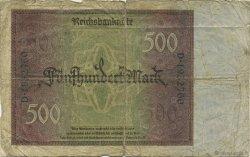 500 Mark ALLEMAGNE  1922 P.073 B