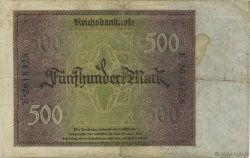 500 Mark ALLEMAGNE  1922 P.073 TB+