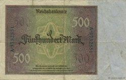 500 Mark ALLEMAGNE  1922 P.073 TTB