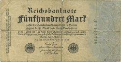 500 Mark ALLEMAGNE  1922 P.074b B