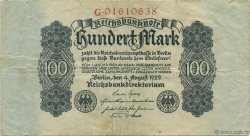 100 Mark ALLEMAGNE  1922 P.075 TTB