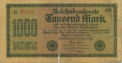 1000 Mark ALLEMAGNE  1922 P.076b B