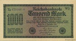 1000 Mark ALLEMAGNE  1922 P.076d SPL+