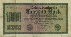 1000 Mark GERMANY  1922 P.076g VF