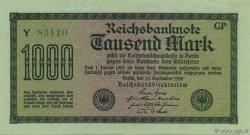 1000 Mark ALLEMAGNE  1922 P.076h SPL