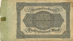 50000 Mark ALLEMAGNE  1922 P.079 B+