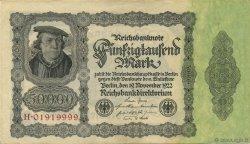 50000 Mark ALLEMAGNE  1922 P.079 SUP