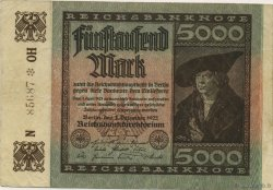 5000 Mark ALLEMAGNE  1922 P.081b TTB+