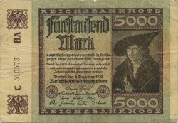 5000 Mark ALLEMAGNE  1922 P.081c TB