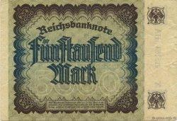 5000 Mark ALLEMAGNE  1922 P.081c TTB