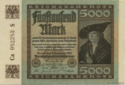 5000 Mark ALLEMAGNE  1922 P.081e SUP