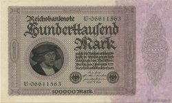 100000 Mark ALLEMAGNE  1923 P.083a NEUF
