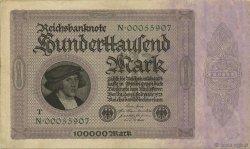 100000 Mark ALLEMAGNE  1923 P.083b pr.SUP