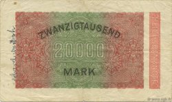 20000 Mark ALLEMAGNE  1923 P.085a TB