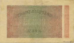 20000 Mark ALLEMAGNE  1923 P.085a TTB