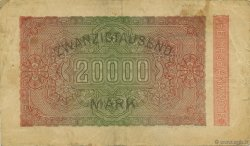 20000 Mark ALLEMAGNE  1923 P.085b TB