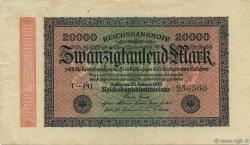 20000 Mark ALLEMAGNE  1923 P.085d pr.SUP