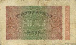 20000 Mark ALLEMAGNE  1923 P.085e TB