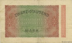 20000 Mark ALLEMAGNE  1923 P.085e TTB