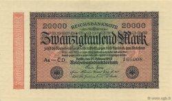 20000 Mark ALLEMAGNE  1923 P.085e pr.NEUF