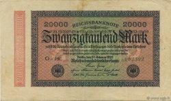 20000 Mark ALLEMAGNE  1923 P.085f TTB