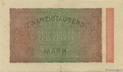 20000 Mark ALLEMAGNE  1923 P.085f SUP