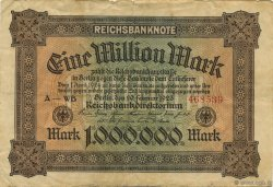 1 Million Mark ALLEMAGNE  1923 P.086a TB