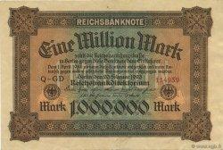 1 Million Mark ALLEMAGNE  1923 P.086a SUP