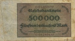 500000 Mark ALLEMAGNE  1923 P.088a TB