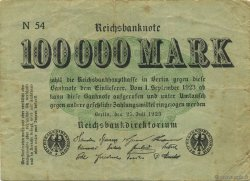 100000 Mark ALLEMAGNE  1923 P.091a TB+
