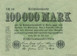100000 Mark ALLEMAGNE  1923 P.091a SUP