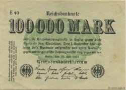 100000 Mark ALLEMAGNE  1923 P.091b SUP
