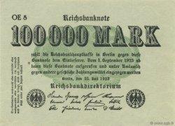 100000 Mark ALLEMAGNE  1923 P.091b pr.NEUF