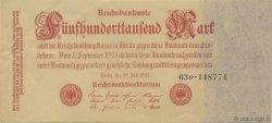 500000 Mark ALLEMAGNE  1923 P.092 SPL