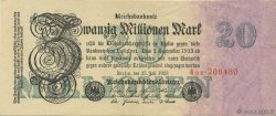 20 Millions Mark ALLEMAGNE  1923 P.097b SUP