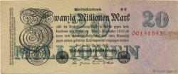 20 Millions Mark ALLEMAGNE  1923 P.097b TTB