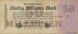 50 Millions Mark ALLEMAGNE  1923 P.098a TTB
