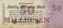 50 Millions Mark ALLEMAGNE  1923 P.098a TTB+