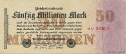 50 Millions Mark ALLEMAGNE  1923 P.098b var SUP