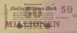 50 Millions Mark ALLEMAGNE  1923 P.098b TTB