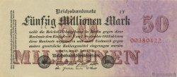 50 Millions Mark ALLEMAGNE  1923 P.098b pr.NEUF