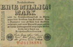 1 Million Mark ALLEMAGNE  1923 P.101 TTB