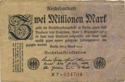 2 Millions Mark ALLEMAGNE  1923 P.103 TB+