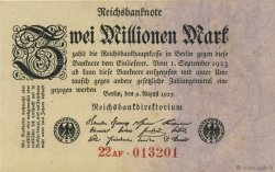 2 Millions Mark ALLEMAGNE  1923 P.103 SUP+