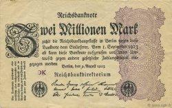 2 Millions Mark ALLEMAGNE  1923 P.104b TTB
