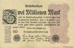 2 Millions Mark ALLEMAGNE  1923 P.104b SUP