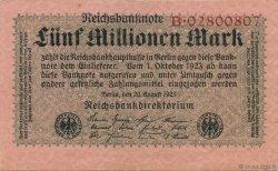 5 Millions Mark ALLEMAGNE  1923 P.105 SUP