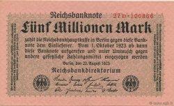 5 Millions Mark ALLEMAGNE  1923 P.105 pr.NEUF